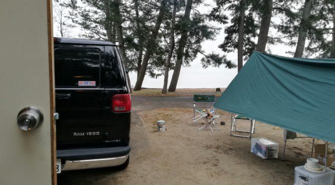 天一経由のマイアミ浜キャンプ場2