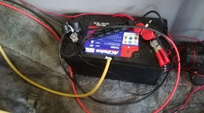 バッテリーの排気口取付